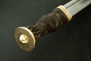 Highland Dirk Pommel Engraving