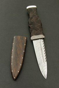 Sgain Dubh with Damasteel Blade