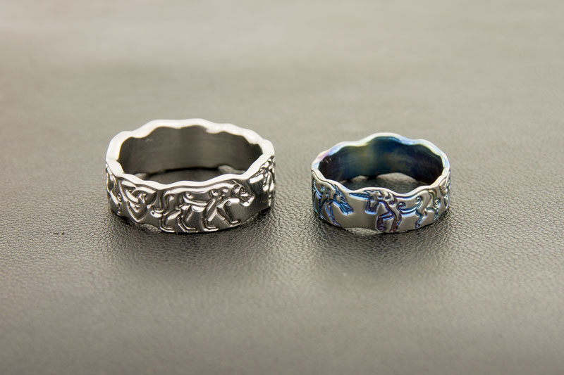 The Wolf and the Unicorn Titanium Wedding Rings Whats New at