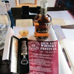 Isle of Jura Sgian Brew and bottle of whisky raffle prize