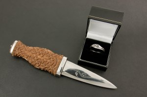 Custom Titanium Wedding Ring and Sgian Dubh