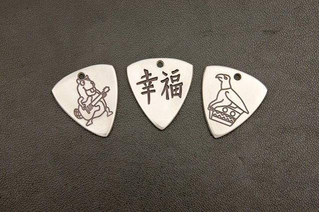 Custom Made Titanium Guitar Plectrums