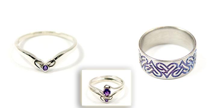 hearts wedding rings - Irish Wedding Ring Sets