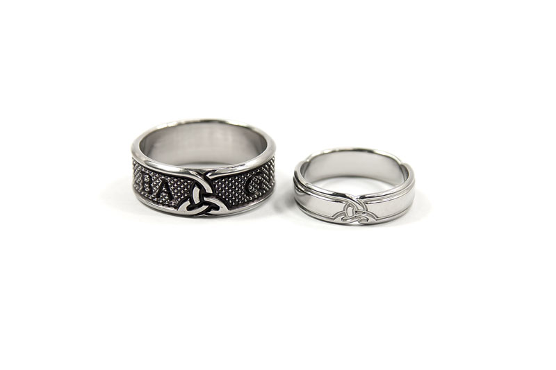 bespoke scottish wedding rings in titanium - Scottish Wedding Rings