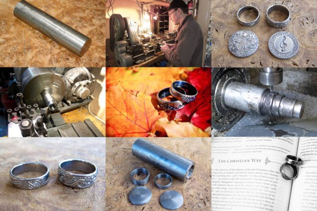 Making of Bespoke Set of Wedding Rings and Charms in Titanium