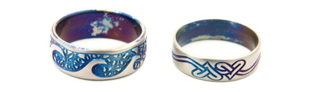 Bespoke Titanium Wedding Rings