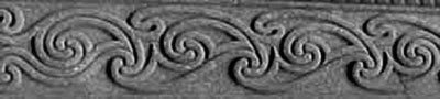 Celtic spirals carving