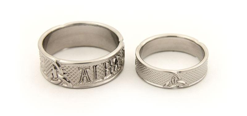 Bespoke Titanium Wedding Bands with Celtic Design and