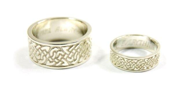 Custom Celtic Wedding Bands