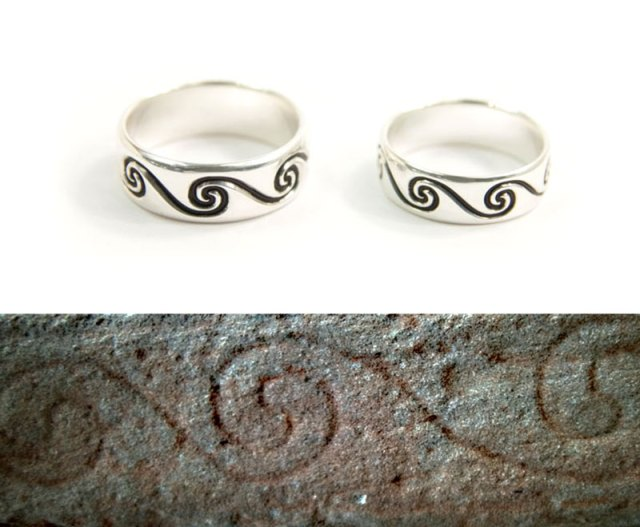 Pictish Spiral Rings for a Wedding Anniversary