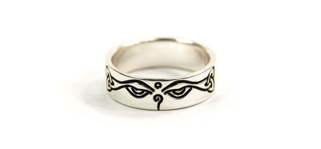 Celtic 'Buddha Eyes' Ring