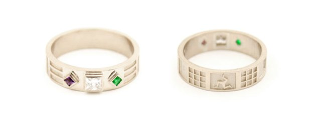 Charles Rennie Mackintosh Inspired Engagement Ring