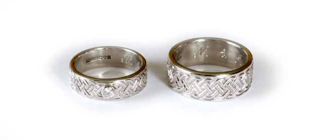 Bespoke Celtic Wedding Rings in Palladium