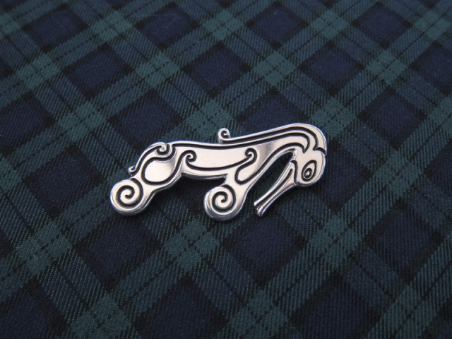 Pictish Beastie Kilt Pin in Sterling Silver