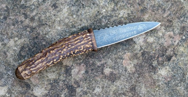 Wedding Present Sgian Dubh Crafted from Richmond Park Antler and Oak