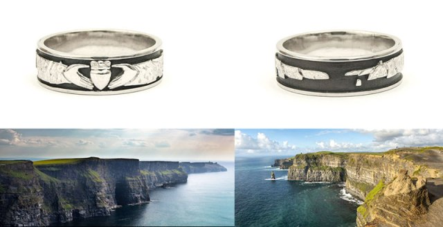 Cliffs of Moher Wedding Ring