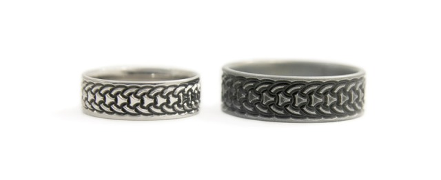 Scandinavian Wedding Rings in Titanium