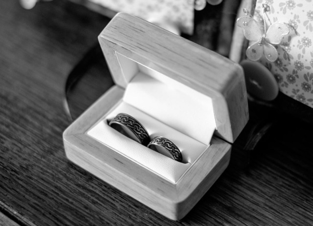 Bespoke Titanium Wedding Rings with Celtic Knot