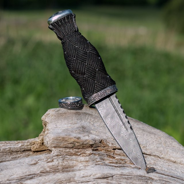 Custom Sgian Dubh and Matching Ring
