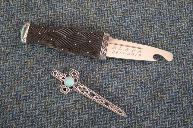 Sgian Brew & Kilt Pin Set with Turquoise