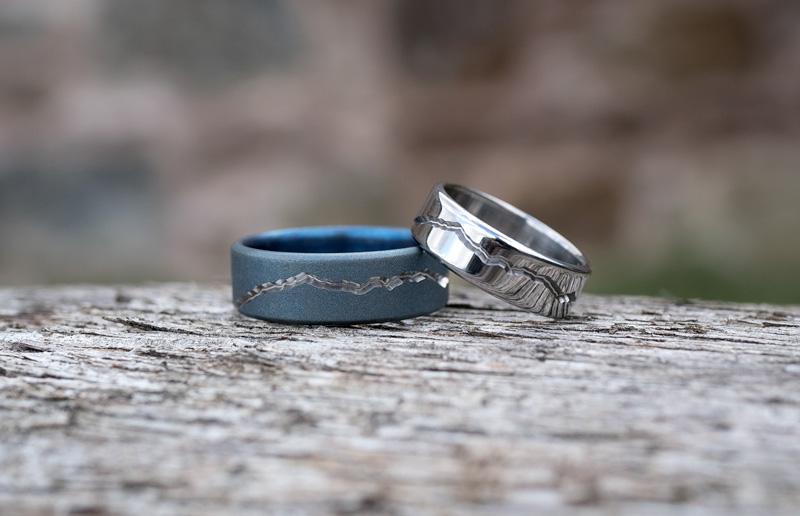 Unique Isle of Arran Wedding Rings in Titanium
