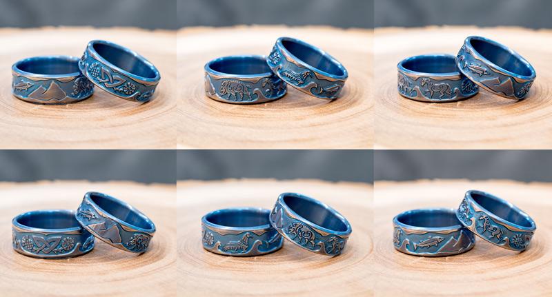 Pictish Wedding Rings Titanium